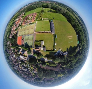 Aerial View of the Croquet Grounds